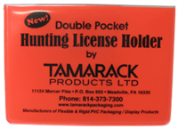 Image result for red plastic hunting license holder